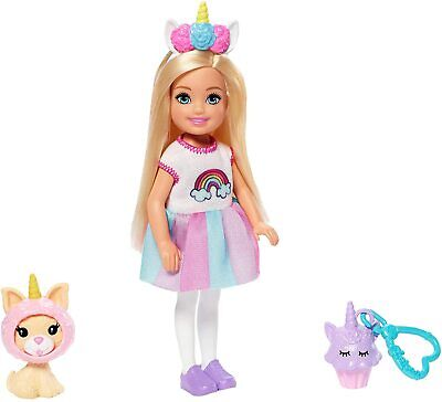 Barbie Club Chelsea Doll + Playset Fashion Unicorn Dress-up Keychain NEW