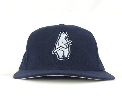 MLB Chicago Cubs Cooperstown Collection Dark Blue Baseball Cap Hat Fitted Size 7 Chicago Cubs Cooperstown Collection