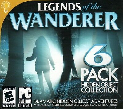 Computer Games - Legends Of The Wanderer PC Games Window 10 8 7 XP Computer hidden object mystery