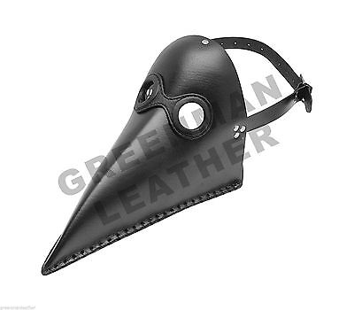 PLAGUE DOCTOR MASK LEATHER STEAMPUNK HALLOWEEN LARP COSTUME COSPLAY FREE P&P UK](Doctor Halloween Costume Uk)