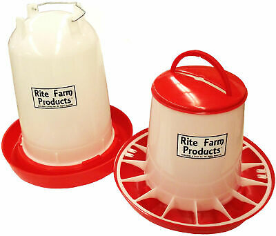 Combo X-large Rite Farm Products 4 Gal 20 Lb Waterer Feeder Chicken Poultry