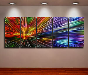 Aluminium Metal Modern Abstract Art Original painting Huge Contemporary 3D