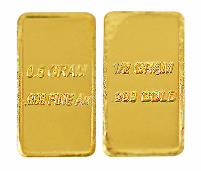 1 2  0 5  Gram Solid Gold Bar  999 24K Gold Fine Bullion   Save   Invest    50