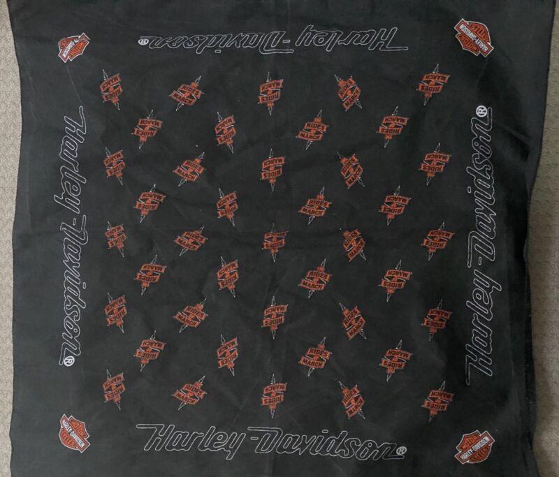 Harley Davidson Rides of March Handkerchief Bandanna Scarf Head Band orange