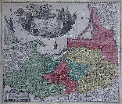 Borussiae Regnum - Preussen - Originale Landkarte von Conrad Tobias Lotter- 1759