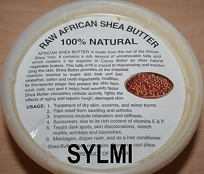100 Pure ORGANIC VIRGIN RAW AFRICAN SHEA BUTTER UNREFINED Ivory 16oz/1Lb Grade A - $7.88