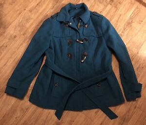 Ladies Green Coat ~ Size XL