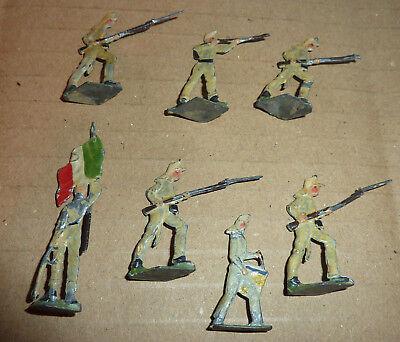 Heinrichsen Zinnfiguren Schutztruppe Italien Nordafrika Tropenhelm Tropenuniform ()