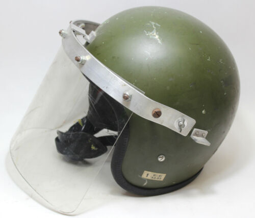 Vintage 1961 Protective Helmet A.R.T. With Shield (CN/8415-99-130-2827) 53cm