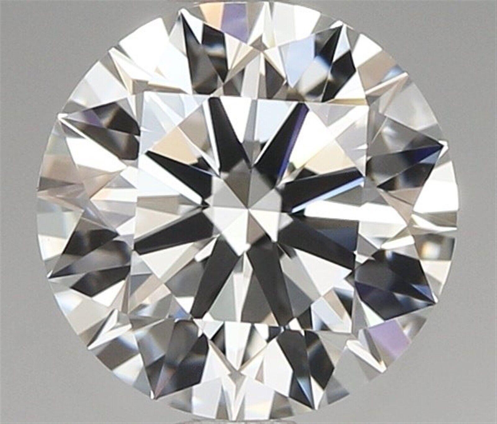 0.90 ct G Color IF Clarity Round 100% Natural Loose Diamond EX Cut GIA FL Medium