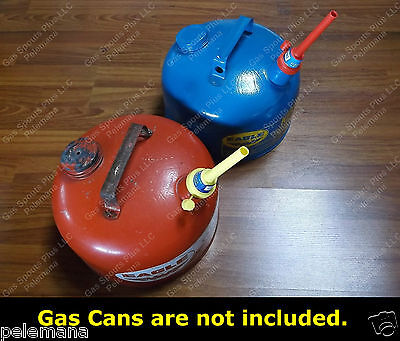 2 New Flexible Fuel Spouts W Airtight Cap Fits 1.5 Eagle Metal Gas Gallon Cans