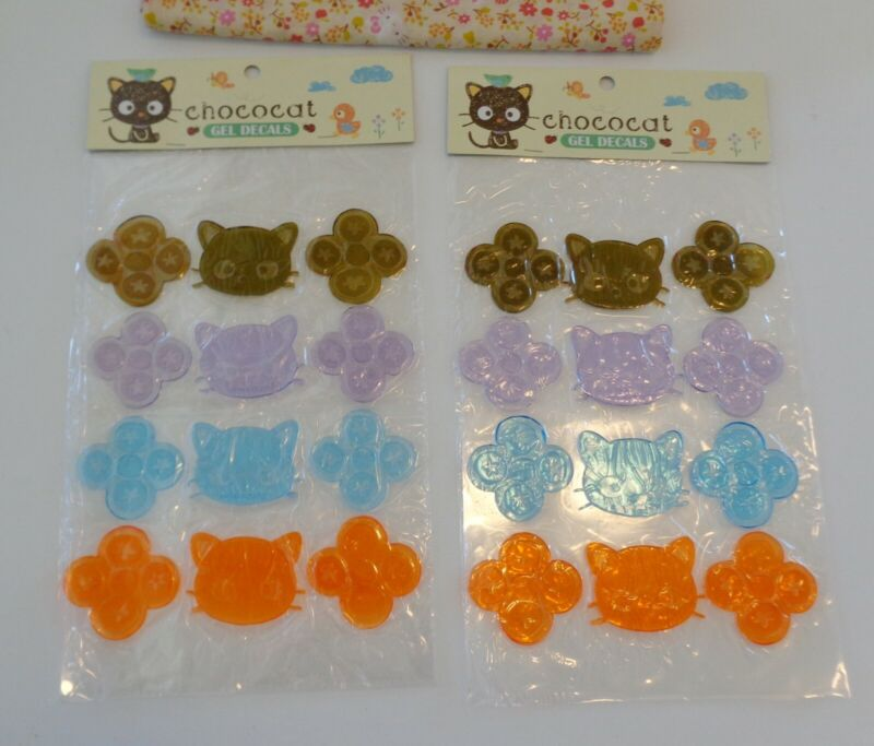 Sanrio 2005 Chococat Room Window Gel Decal Set MIP