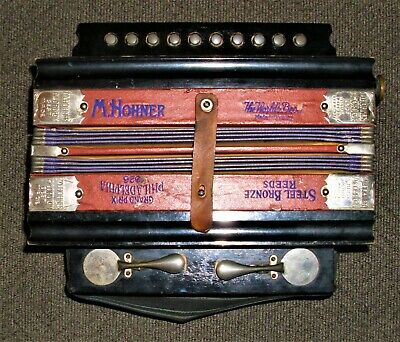 Antique Vintage M. Hohner ACCORDION San Francisco Best Made Germany 1926