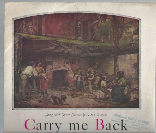 1920 Carry Me Back to Old Virginny sheet music Boston: Oliver Ditson Company