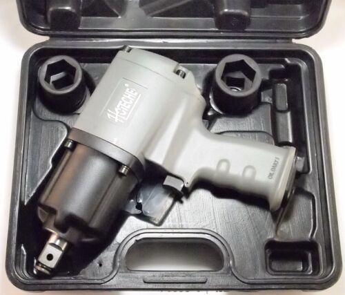 "3/4"" Twin Hammer Heavy Duty Air Impact Wrench, 1250 LB-FT, w/2 Sockets"
