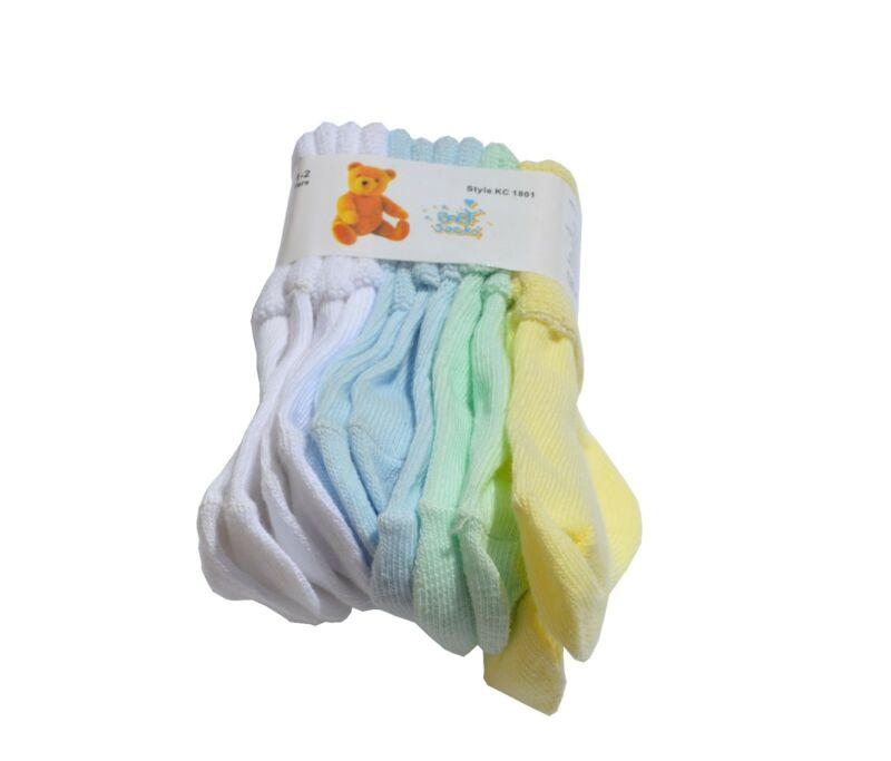 Color Mix & Match - 6 Pairs Cotton baby kid toddler