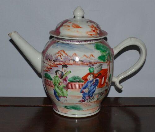 Antique Chinese 18th C Qianlong Famille Rose Porcelain Teapot Cover
