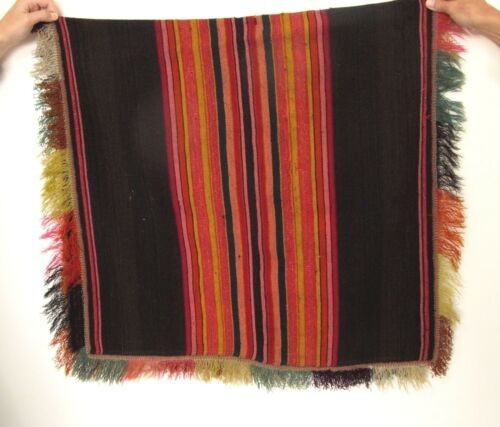 ANTIQUE EARLY 1900 HAND WOVEN WOOL AYMARA BOLIVIAN INDIAN PONCHO