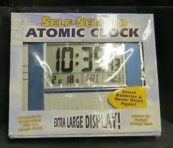 Digital Atomic Wall/Desk Clock Big Display Indoor Temperature Snooze Alarm