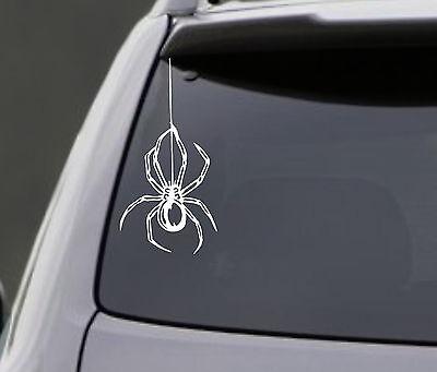 SPIDER Vinyl Decal Sticker Truck Car Window Wall Bumper Macbook Hanging From - Hanging Spider