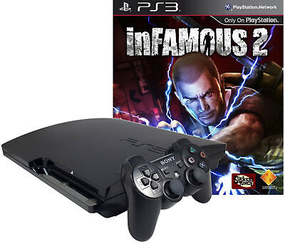 Refurbished PlayStation 3 PS3 320GB inFamous 2 bundle with Matching Controller (Refurbished Ps3 Bundle)