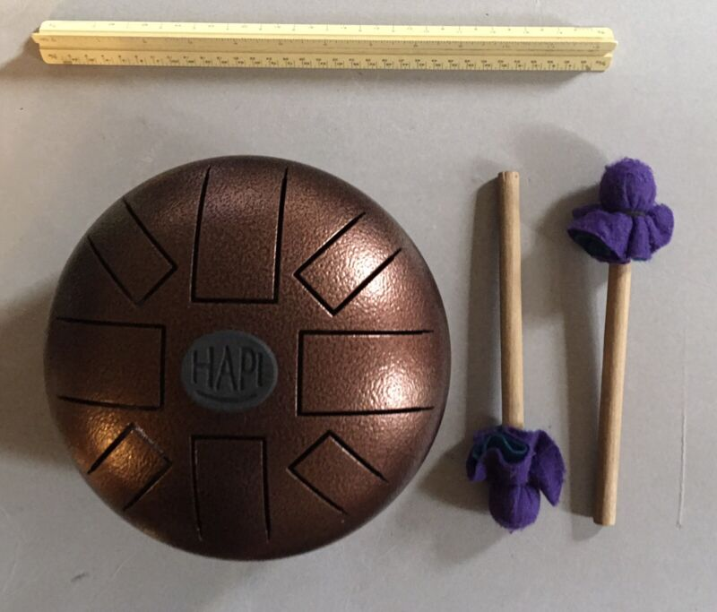 "HAPI Tongue DRUM 8"" DIAMETER and Mallets C pentatonic"