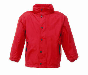 REGATTA-KIDS-TERM-TIME-WATERPROOF-REVERSIBLE-FLEECE-RED-JACKET-COAT-TRA900