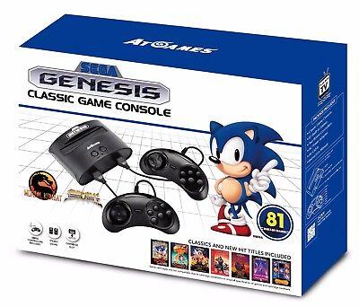 Sega Genesis Classic Game Console 2017 Retro 80  Built In Games W  2 Controllers