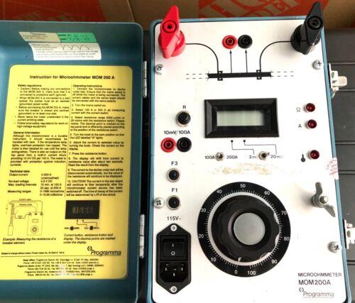 GE Programma DOM200A Digital Micro-Ohm Meter 200A