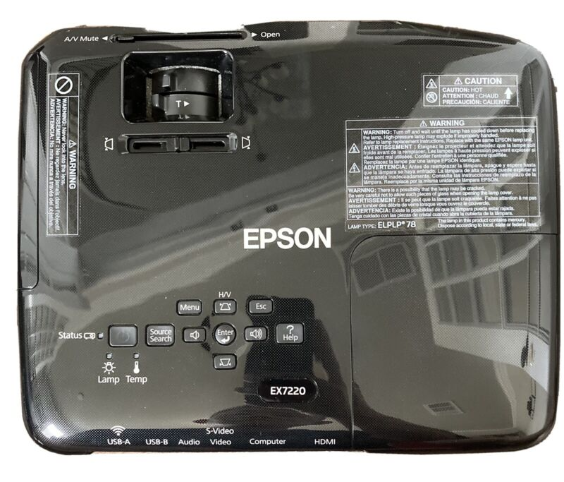 Epson EX7220 WXGA 16 hours lamp 3LCD Projector Pro, 3000 Lumens 1080p capable