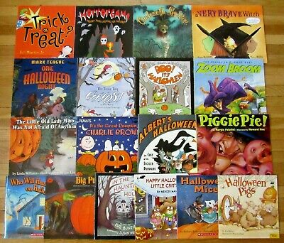 Halloween Themed Treats (Lot 18 HALLOWEEN THEMED Children's Picture Books pumpkins trick or treat)