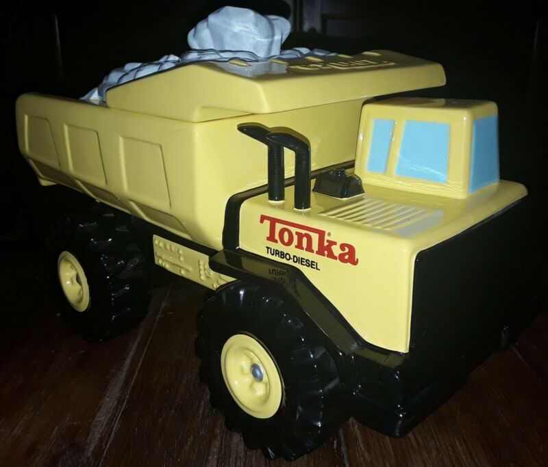 Tonka Turbo Diesel Dump Truck Cookie Jar by Enesco - Hasbro - VHTF