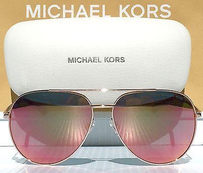 NEW* MICHAEL KORS AVIATOR w ROSE GOLD Mirrored RODINARA Sunglass (Mirrored Aviator Sunglasses Rose Gold)
