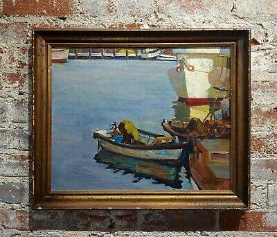 Robert  Caples - Fishing Boats - Oil painting