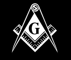 Freemason Compass Masonic Square Illuminati Mason Window Car Truck Decal Sticker