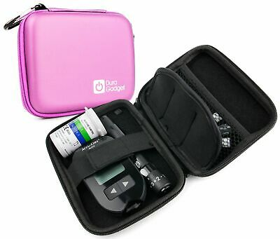 pink rigid insulin diabetes medical supplies shell