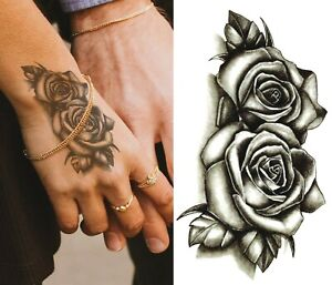 Temporary Rose Tattoo Ebay