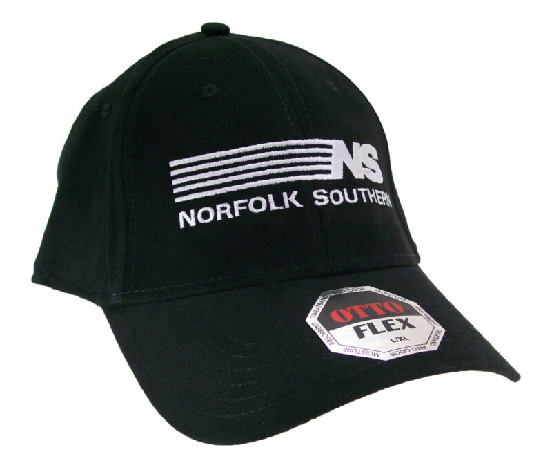 Norfolk Southern Railroad Embroidered Flex Fit Cap Hat #40-0032ff Choose Size