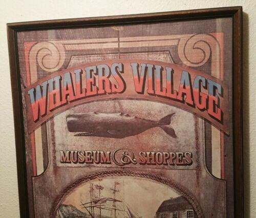 TOM SELLERS vtg hawaiian poster maui whalers village whaling museum tiki bar art