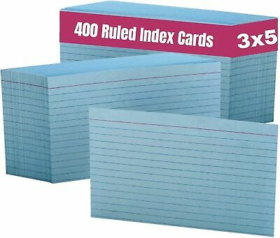 1intheoffice Blue Index Cards Index Card Blue Colored Index Cards 3x5 Rule...