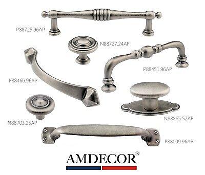Cabinet Pewter Handles - Amdecor Vintage Antique Pewter Cabinet Pull Handle knob Hardware Designer High D