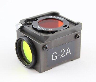 Nikon Green G-2a Dm 580 Fluorescence Filter Cube Microscope Diaphot Optiphot
