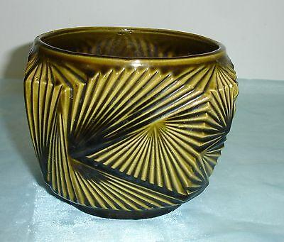 Jugendstil Übertopf Keramik - Fächerdekor 144/13