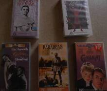 VIDEOES CLASSIC OLD TIME GREAT MOVIES VHS BULK LOT OF 5 LOT#2 Altona Meadows Hobsons Bay Area Preview