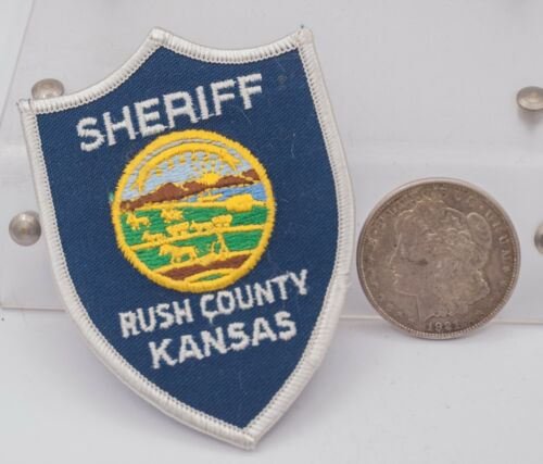 Vintage NOS - Rush County, KS Kansas Sheriff Patch - For Collection/Display