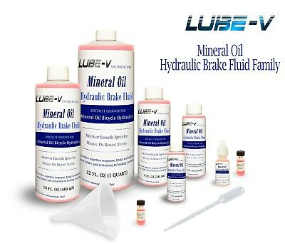 Lube-V Mineral Oil Bike Hydraulic Disc Brake Fluid for Shimano Magura, USA made