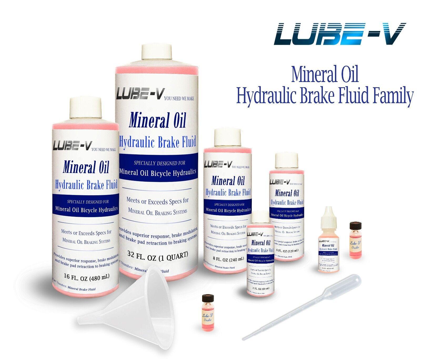 Lube-V Mineral Oil Bike Hydraulic Disc Brake Fluid for Shima