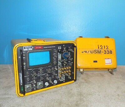Anusm-338 Military Oscilloscope Hewlett Packard W Probe Free Ship
