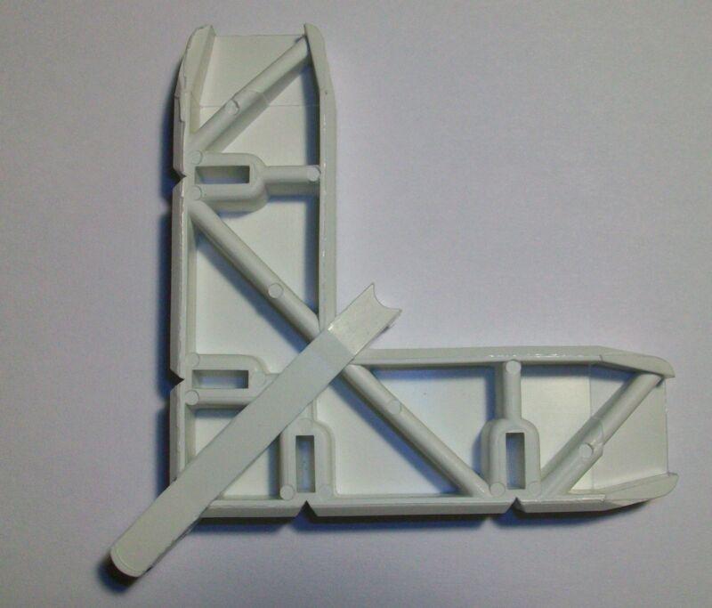 """CRL Andersen 1"""" x 15/32"""" White Plastic Screen Door Frame Corner 4/PACK PL16124"""