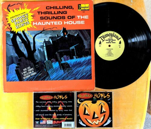 HALLOWEEN SOUND EFFECTS LP & CD Lot: Chilling Thrilling HAUNTED HOUSE, HOWLS